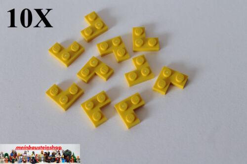 10X Lego® 2420 Winkel Platte Ecke Plate Corner 1X2X2 Gelb Yellow
