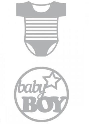 DIES// MATRICES DE DÉCOUPE /'ARTEMIO Body Baby BOY NAISSANCE GARÇON QTÉ 2 SIZZIX