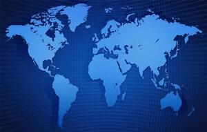 Blue world map glossy poster picture photo countries globe maps image is loading blue world map glossy poster picture photo countries gumiabroncs Images