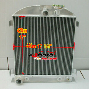 64mm-3-row-Aluminum-Radiator-for-1932-Ford-Chopped-engine-32-AT-MT
