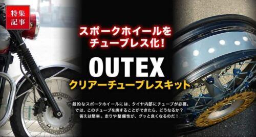Tubeless kit Spoke Wheel Harley-Davidson Sportster 72 XL1200V Outex