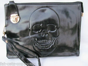 3 DESIGNS WOMENS DESIGNER STYLE FAUX SOFT LEATHER METAL SKULL CHAIN ... da41bc3ff0190