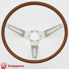 Flashpower GM Classic Wood Steering Wheel Original Restoration Muscle Car 15''