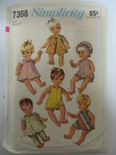 "Happy Chance Doll Clothes Sewing Pattern for 16/"" Vinyl ABJD Goodreau Dolls"