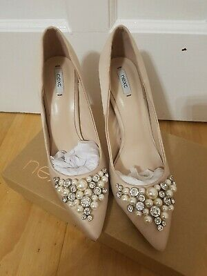 online here official supplier new design Next Cinderella Shoes!! Pink/nude embellishments . look like Ted ...