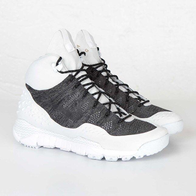Nike Lupinek Flyknit ACG White Black 826077-002 Size 6-13 LIMITED 100% Authentic