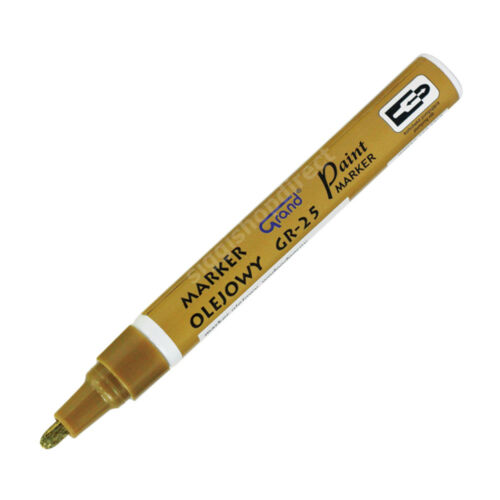 Gold Paint Marker Oil Based Waterproof Pen Wood Glass Plastic Tyre Rubber Medium