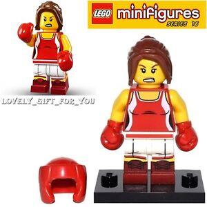 #8 Kick Boxer BRAND NEW Mini-Figure W//Stand LEGO Series 16