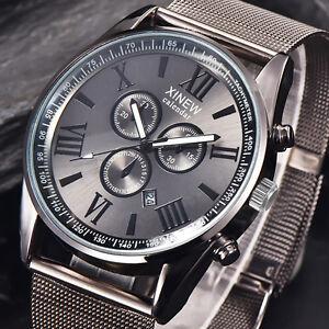 Mens-Fashion-Luxury-Watch-Stainless-Steel-Date-Sport-Analog-Quartz-Wristwatches
