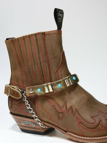 Sendra botas correa ames marron marrón nº 50 botas de cuero joyas cintas