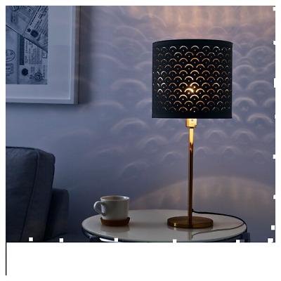 SKAFTET Table lamp, black brass
