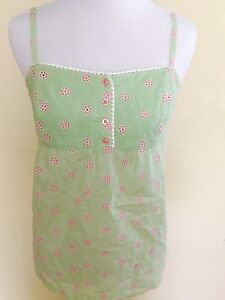 Lilly-Pulitzer-Pink-And-Green-Dot-Thin-Strap-Top-Size-4