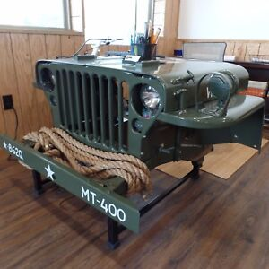 Details about 1942-43 MB CJ2A Military Jeep Desk with lights