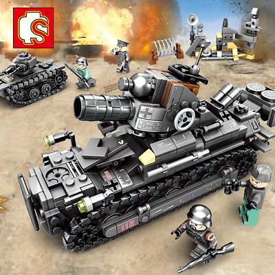 Bausteine Modellbausätze Militär Soldaten Hbuschrauber Spielzeug Krieg 4in1
