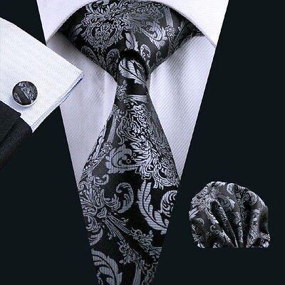 C-822 New Style Men's 100% Silk Neckties Tie+Hanky+Cufflinks Sets Free Shipping