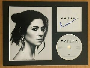 Marina-and-the-Diamonds-HAND-SIGNED-16x12-mounted-display-AUTOGRAPHED