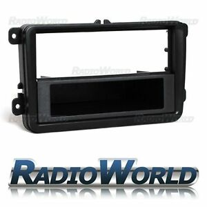 VW-Golf-MK5-6-pannello-targa-cruscotto-della-gronda-finitura-Surround-Adattatore-Radio-Stereo-Auto