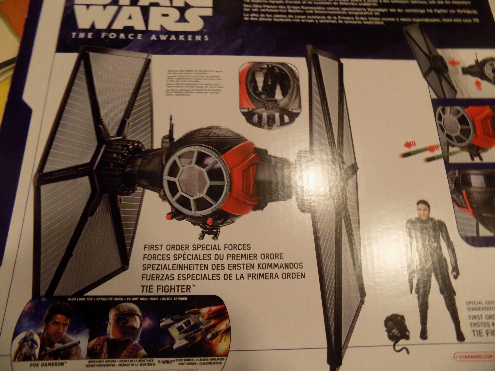 Star Wars Cadeau Noel NEUF Soldé Moitié Prix TIE FIGHTER + PILOTE star wars NEUF