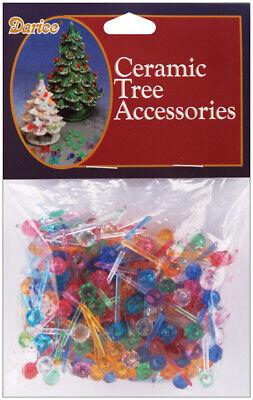 Darice Ceramic Christmas Tree Accessories Medium Globe Pin ...