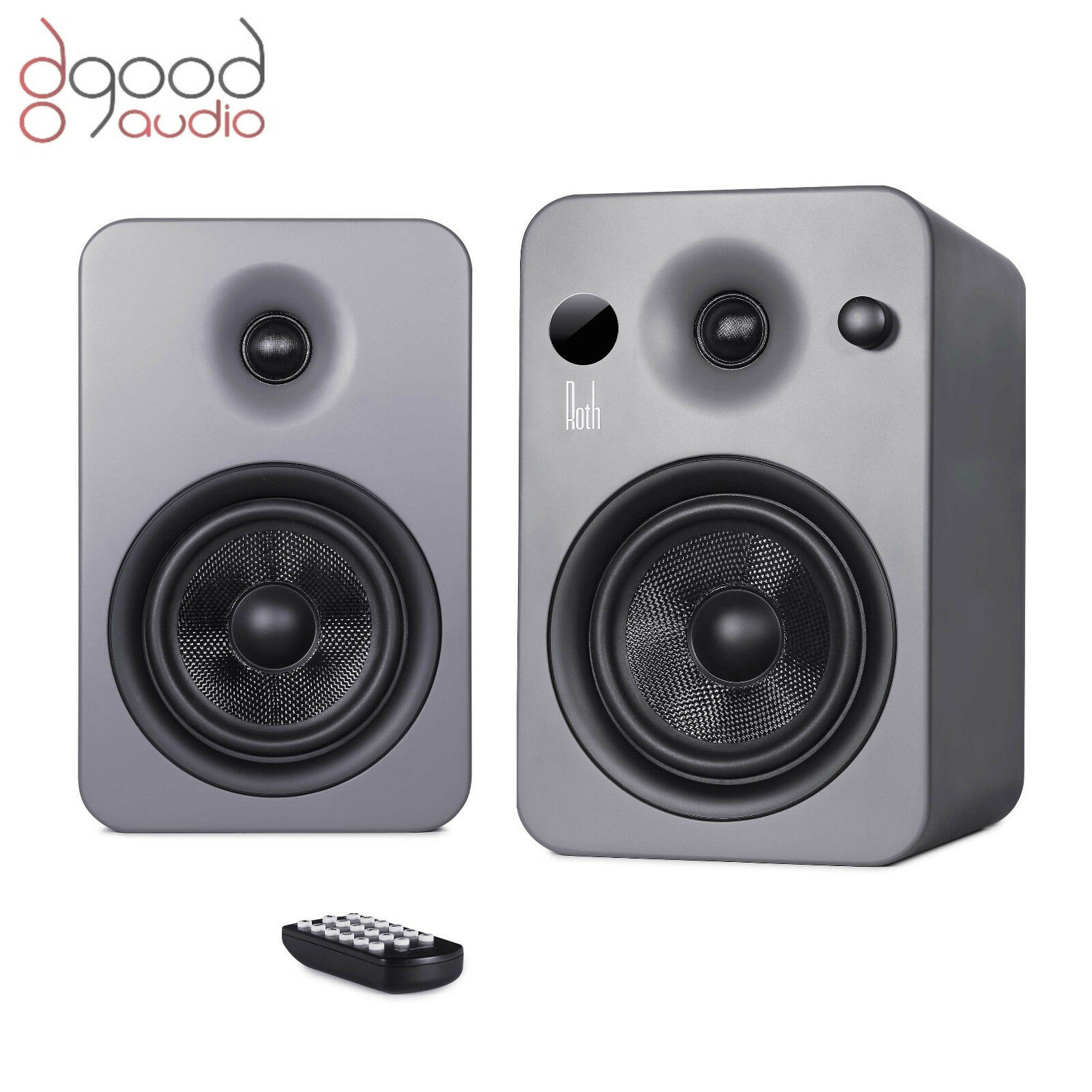 roth audio powa 5 mkii apt x bluetooth active stereo monitor speakers grey ebay. Black Bedroom Furniture Sets. Home Design Ideas