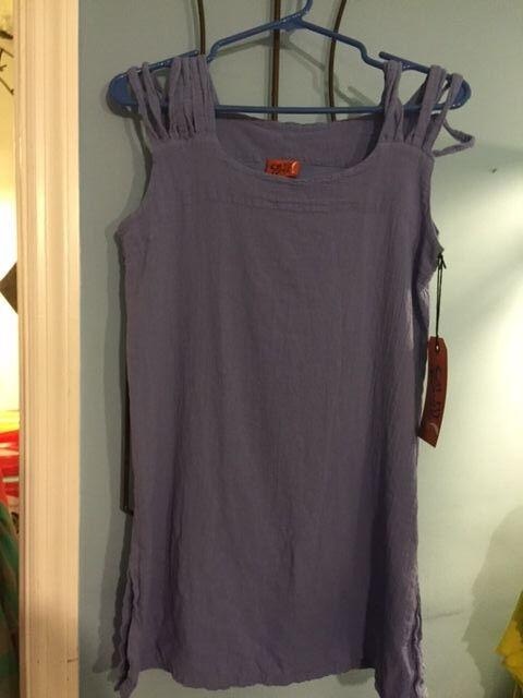 NWT Oh My Gauze Cutie Größe 2 Sleeveless Baumwolle (2 Farbes) Tunic Top