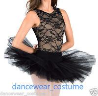 New Ladies Professional Classical Ballet Tutu 5Layers Hard Organdy Platter Skirt