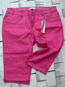 Sheego-Trousers-Bermuda-Capri-Pants-Jeans-Ladies-Size-40-Pink-588-Deh
