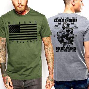 5b646064 Army Combat Engineer US Flag Patriotic Iraq Sapper Veteran Military ...