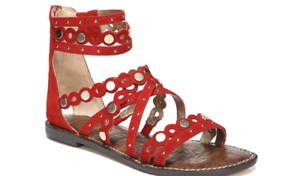 Sam Edelman Geren Red Suede Leather Gladiator Sandal Women's sizes 5-11  NEW