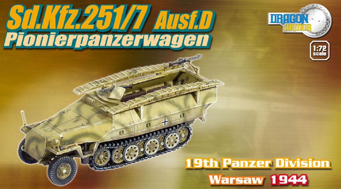 DRAGON ARMOR 1 72,    TRÈS RARE    GERMAN Sd.Kfz.251 7 Ausf. D, Art.  60313