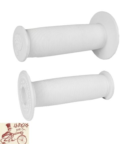 ODI MUSHROOM FLANGED WHITE BICYCLE GRIPS