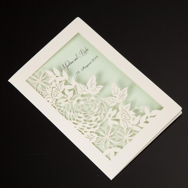 Einladungskarten Hochzeit FE1810B mit Umschlag  Design Hochzeitseinladungskarte