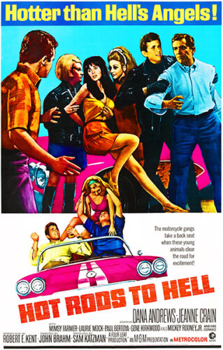 Hot Rods To Hell 1967 Movie Poster