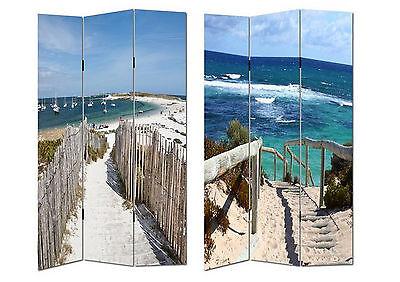Dekoration Hti-line Paravent Beach 1 Sichtschutz Spanische Wand Raumteiler Neu Ovp
