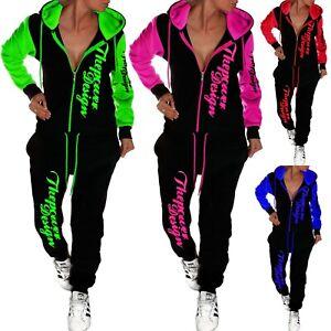 Damen Jogginganzug Jogging Hose Jacke Sportanzug Fitness Sporthose Hoodie XS-4XL