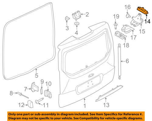 FORD OEM 12-14 Focus Liftgate Tail Tailgate Trunk-Switch BM5Z54432A38A