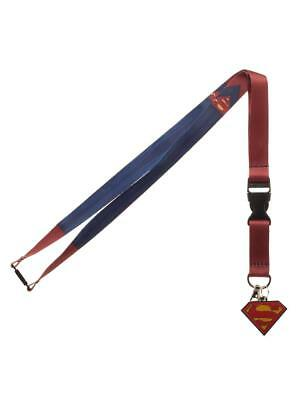 OFFICIAL DC COMICS SUPERMAN SUIT UP PRINT LANYARD (+ STICKER) [BRAND NEW]
