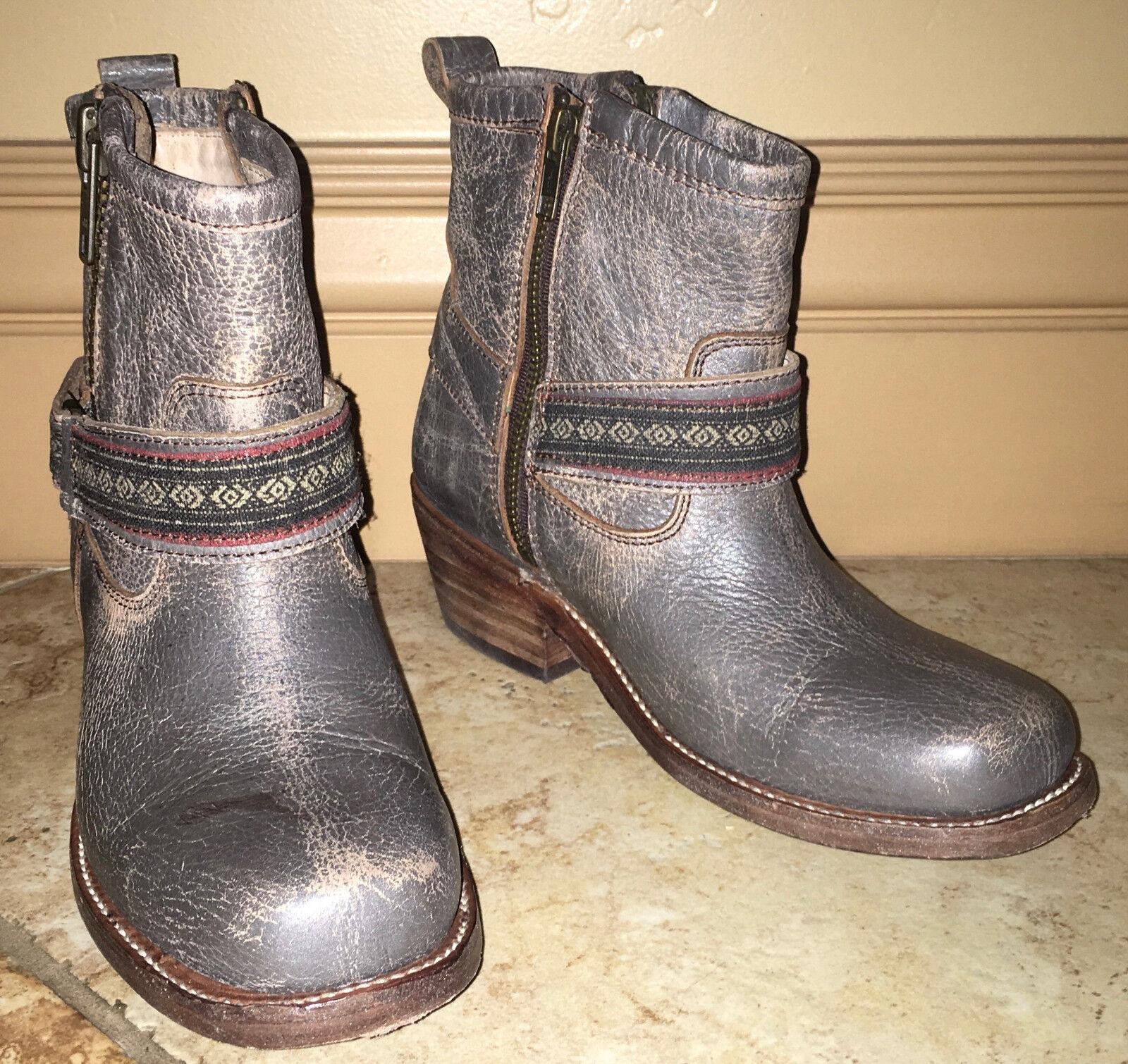 Nuevo En Caja Nuevo Bed Stu triple botas botas botas Botines Zapatos 6.5 gris tobillo de cuero al por menor  255  alta calidad