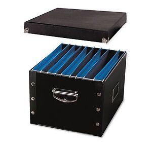 collapsible letter legal file box portable folders organizer holder hanging home ebay. Black Bedroom Furniture Sets. Home Design Ideas