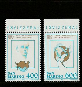 SAN-MARINO-1985-INTERNATIONAL-YOUTH-YEAR-SET-2V-UM-MNH
