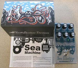 DéSintéRessé Utilisé Earthquaker Devices Sea Machine V3 Mega Chorus Pédale D'effets Guitare!-afficher Le Titre D'origine