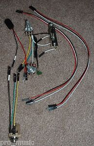 emg erless ez install wiring kit 2 active pickups 1v 1t 3 way image is loading emg erless ez install wiring kit 2 active
