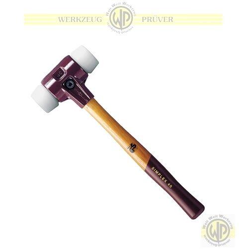 Simplex Schonhammer weiß/weiß Plastik Auswahl 30-80mm HALDER Hammer mittelhart #