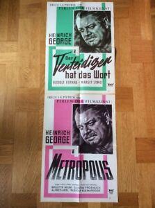 Metropolis-Verteidiger-2-A2-Kinoplakate-60er-Heinrich-George