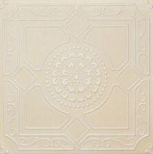 Faux Finish Styrofoam Ceiling Tile R30 Designer Champagne White Painted