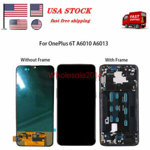 LCD-Touch-Screen-Digitizer-Frame-Black-For-OnePlus-6T-A6010-A6013-US
