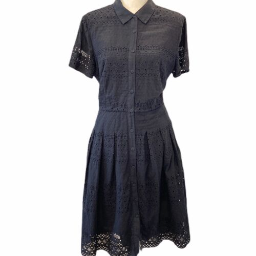 Talbots ShirtDress Eyelet Lace Fit and Flare A Lin