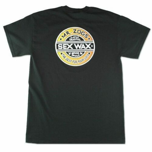 Sex Wax The Fade Size L Short Sleeved Mens T Shirt Black Genuine Mr Zogs Tee