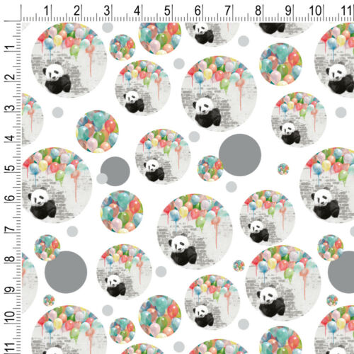 Panda Bear Colorful Rainbow Balloons Premium Gift Wrap Wrapping Paper Roll
