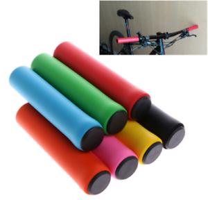 1Pair-Silicone-Anti-slip-Bike-Foam-Handlebar-GRIPS-Lock-on-Fixed-Gear-Grips